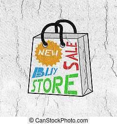 mode, kleur, winkel, zak