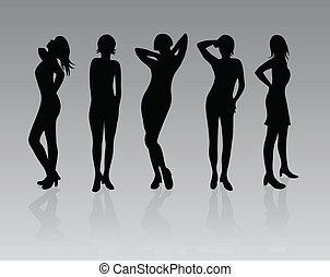 mode, kvinnor