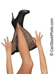mode, laarzen
