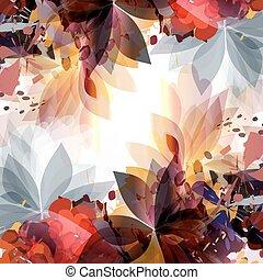 mode, lente, abstract, illustratie, vellen, spots.colorful
