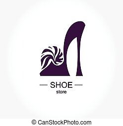 mode, magasin, coll, chaussure, logo, magasin