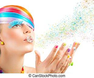 mode, magie, coloré