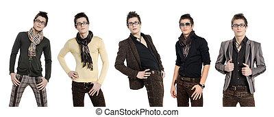 mode, mannen, broek, een, hemd
