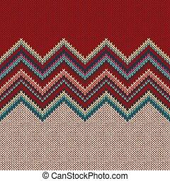 mode, moderne, pattern., seamless, gebreid, achtergrond., geometrisch, knitwear.
