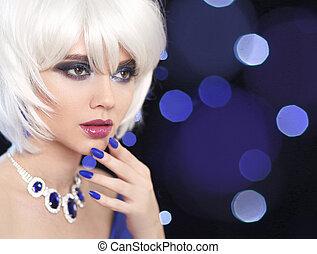 mode, nails., makeup., blonds, hair., portrait, fin, style.,...