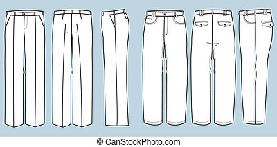 mode, pantalon, homme