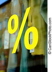 mode, procent, verkoop, s, kleinhandelswinkel