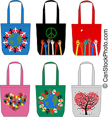 mode, sacs, amour, paix, liberté