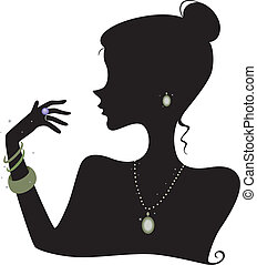 mode, silhouette, accessoirs