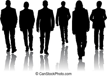 mode, silhouette, mannen
