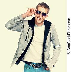 mode, sonnenbrille, mann