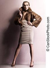 mode, stijl, foto, van, een, jonge, beauty