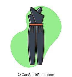 mode, vecteur, illustration, robe, conception, icône