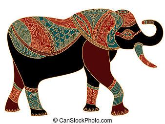 modelé, éléphant