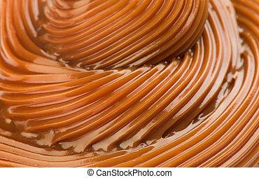 modelé, brun, lumière, résumé, caramel, fond