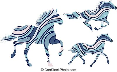 modelé, chevaux