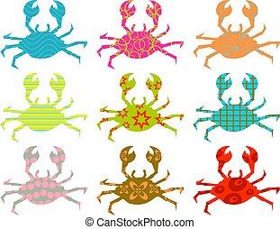 modelé, crabes