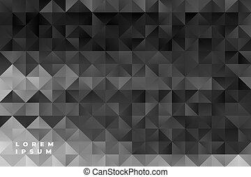 model, abstract, black , driehoeken, achtergrond