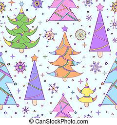 model, abstract, boompje, seamless, kerstmis