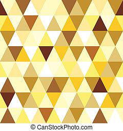 model, abstract, driehoek, seamless, goud