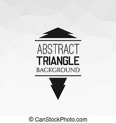 model, abstract, driehoek, witte