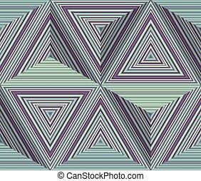 model, abstract, gestreepte , driehoeken, geometrisch