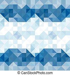 model, abstract, hemel, illustratie, water, achtergrond., vector, geometrisch, driehoeken