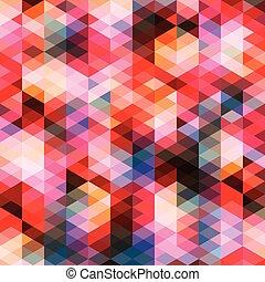 model, abstract, kleurrijke, driehoeken, achtergrond