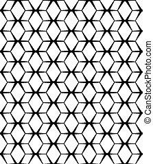 model, abstract, seamless, achtergrond., vector, black , witte