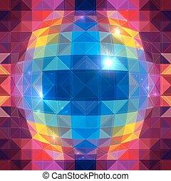 model, abstract, seamless, bol, vector, driehoeken