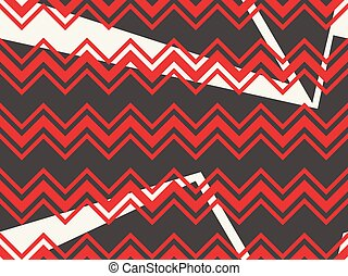 model, abstract, seamless, zigzag, color., vector, black , illustratie, achtergrond, circles., geometrisch, rood