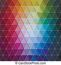 model, abstract, vector, kleurrijke, driehoeken