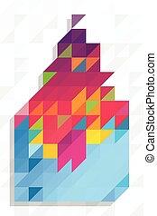 model, abstracte vorm, driehoeken