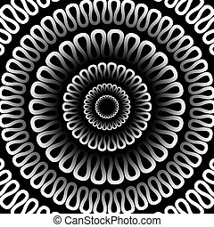 model, achtergrond., vector, zwarte achtergrond, radiaal