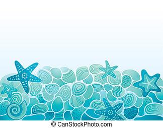 model, achtergrond, zee