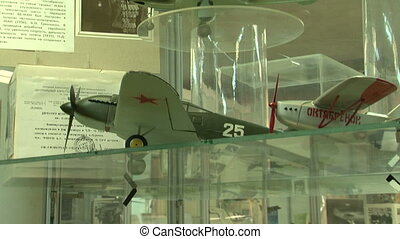 Model aircraft in the museum