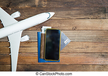 model airplane and smarthone - model airplane and smartphone...
