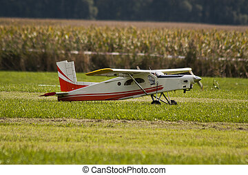 Model airplane - Radio controlled model airplane ready for...