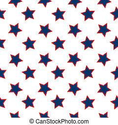 model, amerikaanse vlag, sterretjes