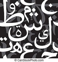 model, arabische , brieven, seamless