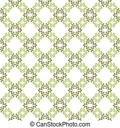 model, behang, seamless, achtergrond., vector, groen wit