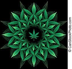 model, black , blad, ronde, cannabis