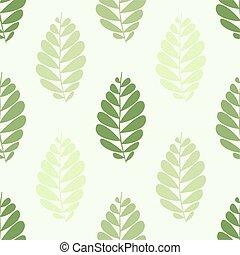 model, bladeren, groene, seamless