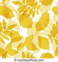 model, bladeren, seamless, herfst, ontwerp, jouw