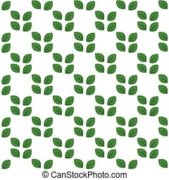model, bladeren, witte , groene, seamless