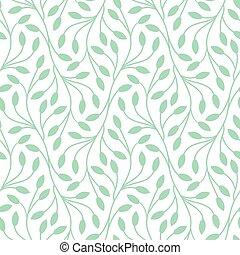 model, bladeren, witte , seamless, achtergrond