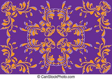 model, bloem, achtergrond, gele, viooltje