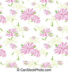 model, bloem, kleurrijke, seamless, achtergrond