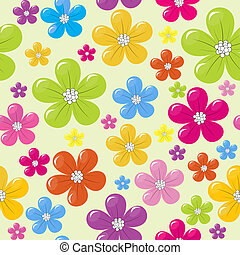 model, bloemen, seamless, gekleurde