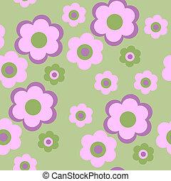 model, bloemen, seamless, textuur